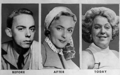 Christine (George)Jorgensen 1943, 1952 et 1975