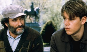 Robin Williams (Sean, Le psychothérapeute), Mat Damon (Will Hunting)