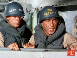 Robert Francis (L'enseigne Keith) et Humphrey Bogart (le capitaine Queeg)