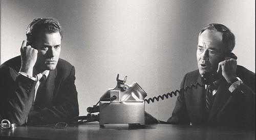 Larry Hagman (Buck) et Henry Fonda (Le président)